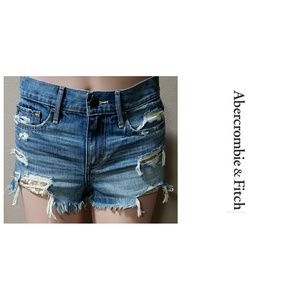 Abercrombie Destroyed Shorts